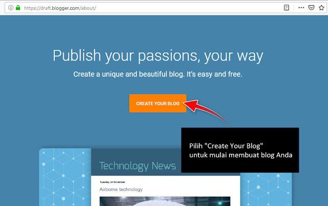 Panduan Pemula: Cara Membuat Blog di Blogger.com