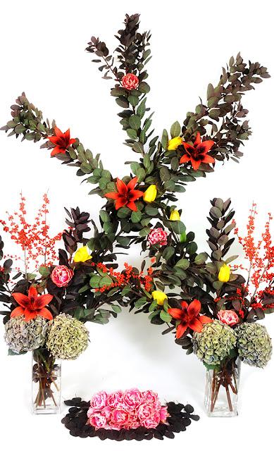 cotinus arch floral display
