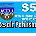 KTU S5 RESULT PUBLISHED | B.Tech Fifth Semester Examination Dec 2017