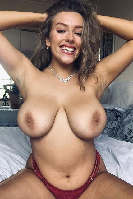 Beautiful woman topless amazing big boobs naked shot 7