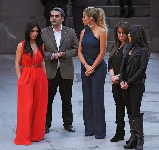 Photos: Armenian Genocide Memorial visit by Kim Kardashian,  Kanye West & Khloe Kardashian