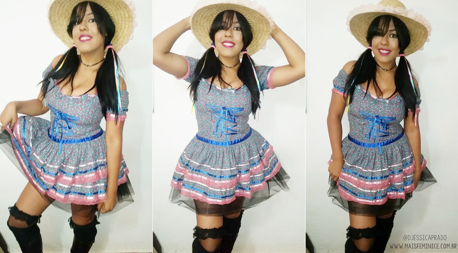Look de Quadrilha - Festa Junina - Julina