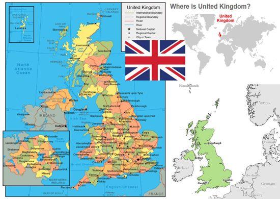 peta dan profil negara inggris