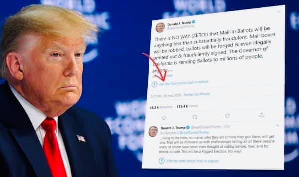 موقع تويتر يصنف تغريدة ترامب ضمن الأخبار الزائفة والأخير يهدد بإغلاق منصات التواصل الإجتماعي...