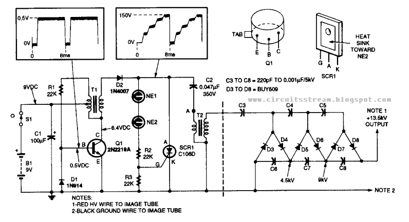 build a 13kv high voltage power supply circuit diagram electronic rh circuitsstream blogspot com