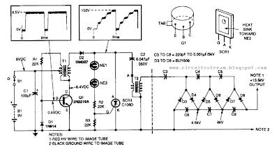 Build a 13KV High voltage Power supply Wiring diagram