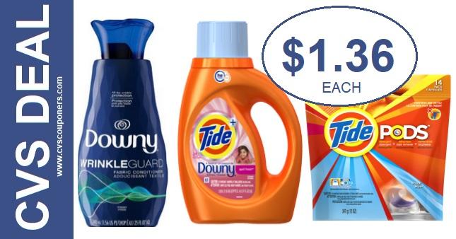 CVS Deals on Tide Detergent & Downy