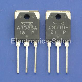 1x 2SA1386A & 1x 2SC3519A Original SANKEN Audio High Power Transistor.