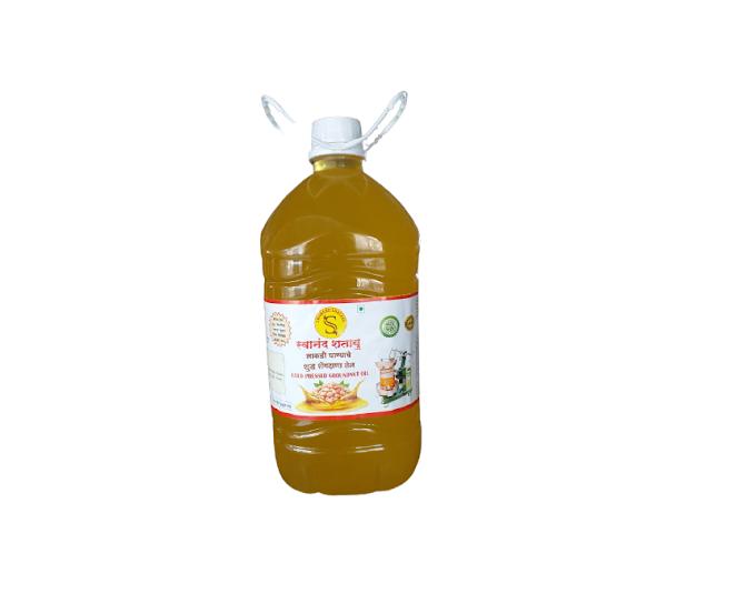 शेंगदाणा तेल Cold Pressed Groundnut Oil (15 Ltr)