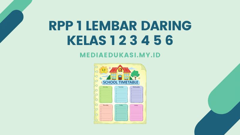 RPP 1 Lembar Daring Kelas 1 2 3 4 5 6
