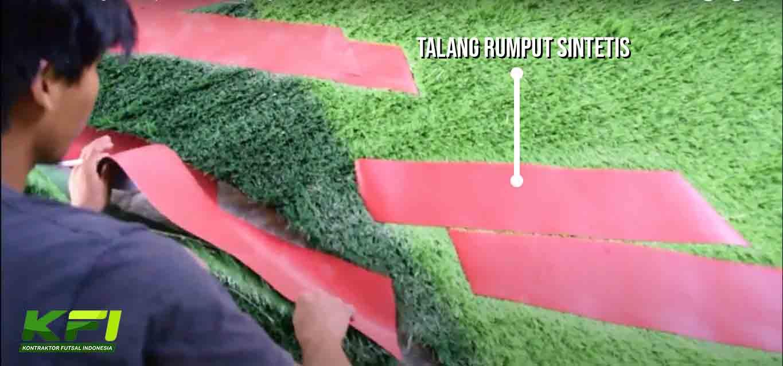 talang rumput sintetis
