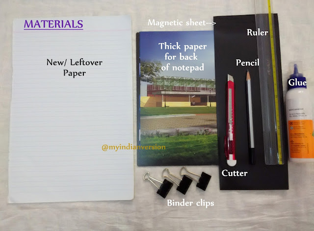 DIY Magnetic Notepad Tutorial - Materials