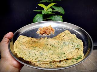 Mangalore style masala neer dosa