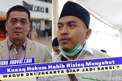 Berani, Wagub DKI Jakarta Siap Jadi Saksi Habib Rizieq
