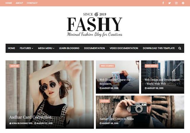 Fashy Blogger Template - Giao diện blogger tạp chí đơn giản 2019