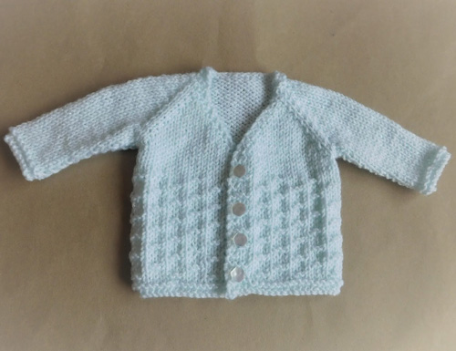 NEVIS Top-down V-neck Baby Cardigan Jacket - Free Pattern