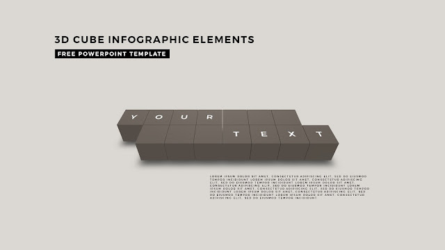 3D Cube Infographic Elements for Free PowerPoint Template Design Slide 7