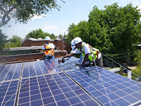 A solar installation in Washington, D.C., on June 30, 2016, by GRID Alternatives. (Credit: Flickr User Gridalternatives) Click to Enlarge.