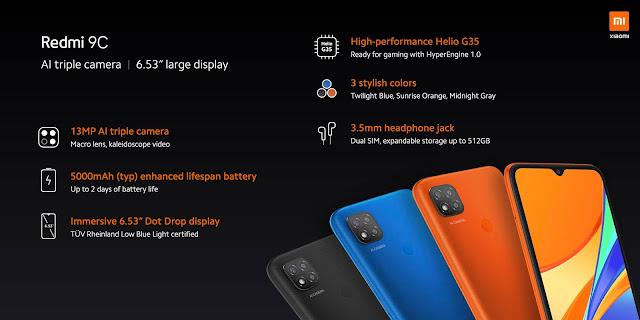 (XIAOMI REDMI 9C (32GB  | ريدمي9Cفي المغرب | ثمن الهاتف REDMI 9C في المغرب خصائص ومميزات مراجعة كاملة