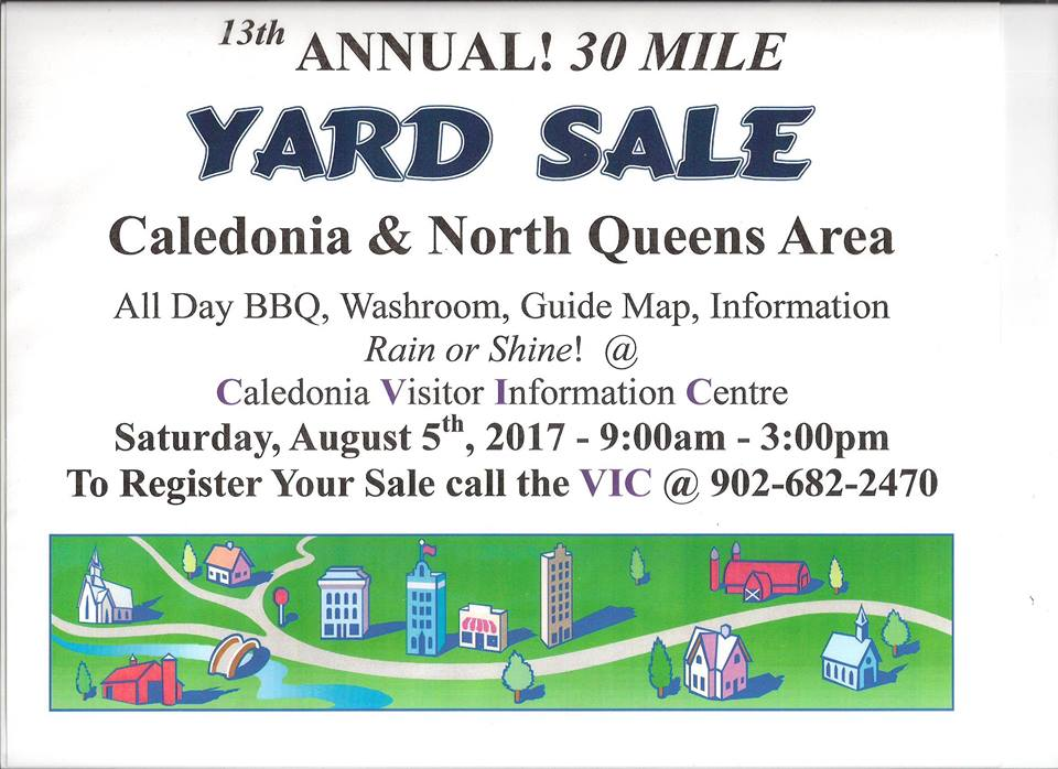 Queens County Community: Annual 30 Mile Yard Sale August 5th starts