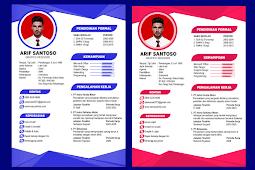 Contoh CV Lamaran Kerja Yang Baik dan Menarik - Design #9