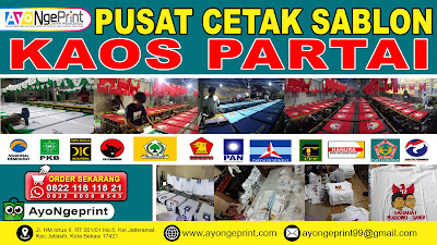 Tempat Cetak Sablon Kaos Partai atau Baju Partai Murah di Cikancung, Bandung