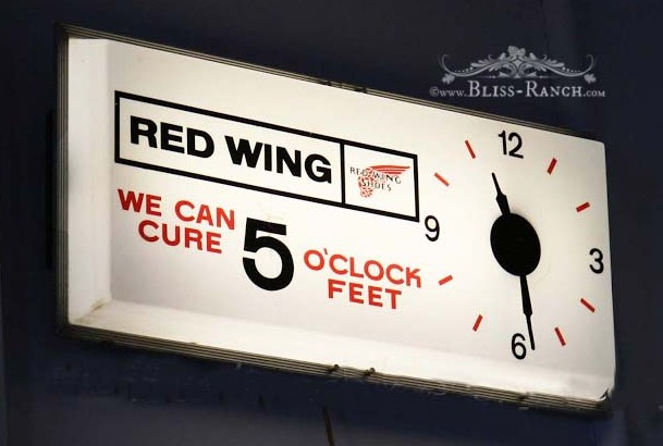 Antique Red Wing Clock