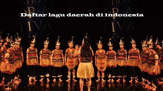 daftar lagu daerah di indonesia