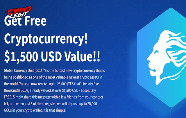 Airdrop Global Currency Unit Free 5,000 GCU Estimate $150