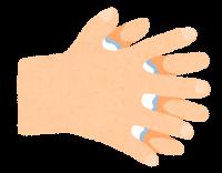 石鹸で手を洗う順番のイラスト(指の間)