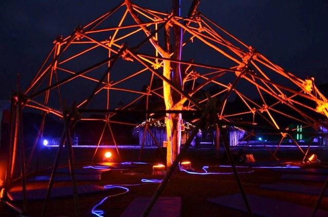 Uma das obras do espetáculo da Festa das Luzes