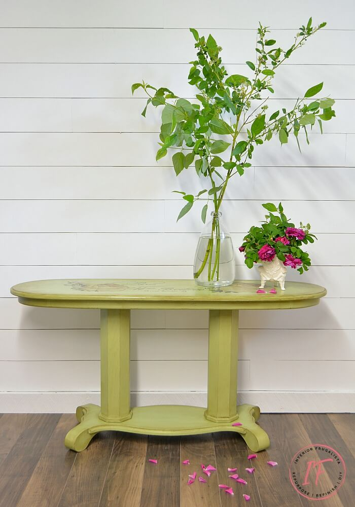 Double Pedestal French Console Table