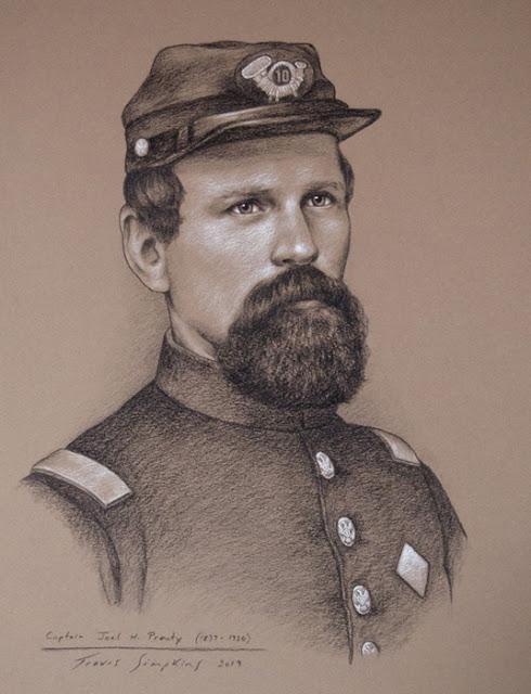 Captain Joel H. Prouty. Civil War Veteran. Freemason. Auburn, Massachusetts. by Travis Simpkins
