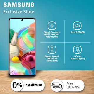 Samsung Galaxy A71 (Prism Crush Silver, 128 GB)