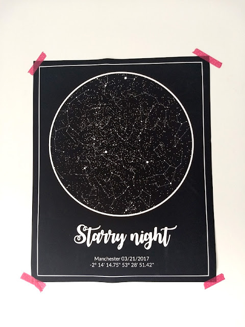 Customised star poster