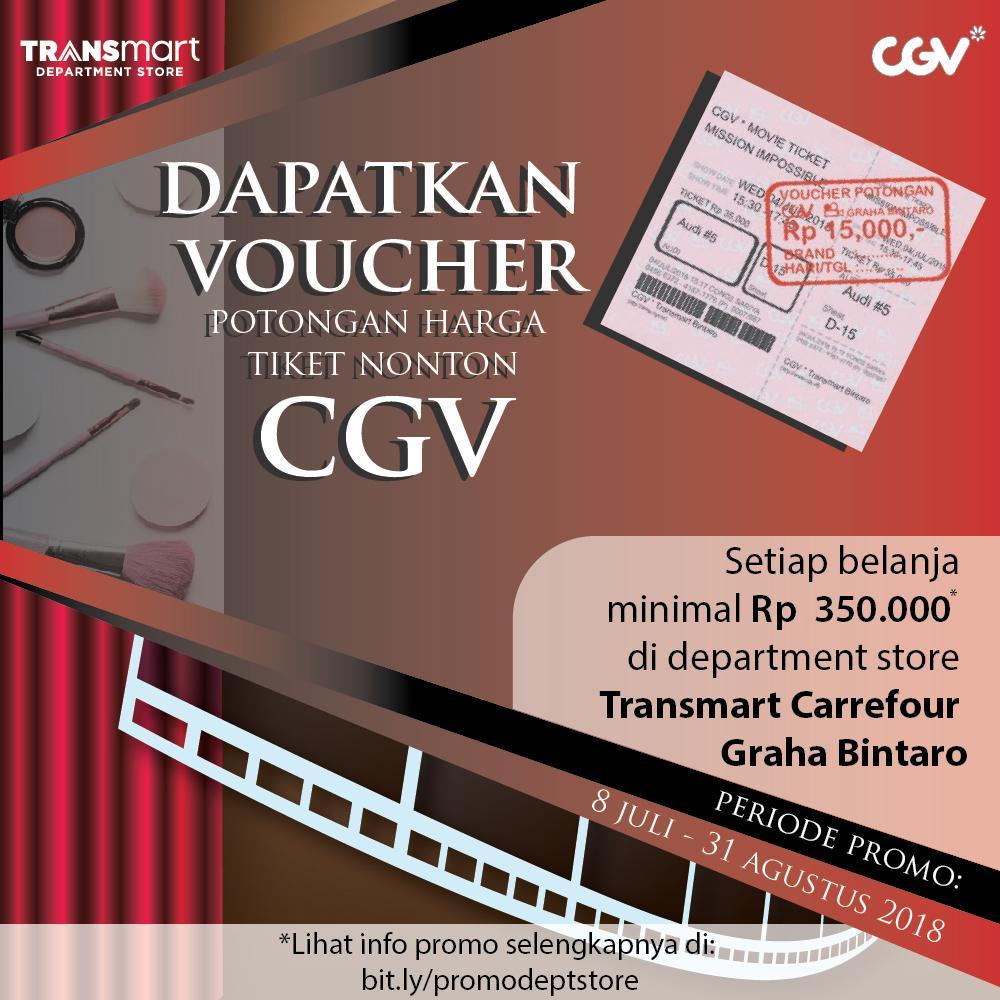 CGV - Voucher Potongan Harga Belanja di Carrefour (Graha Bintaro - Jakarta)