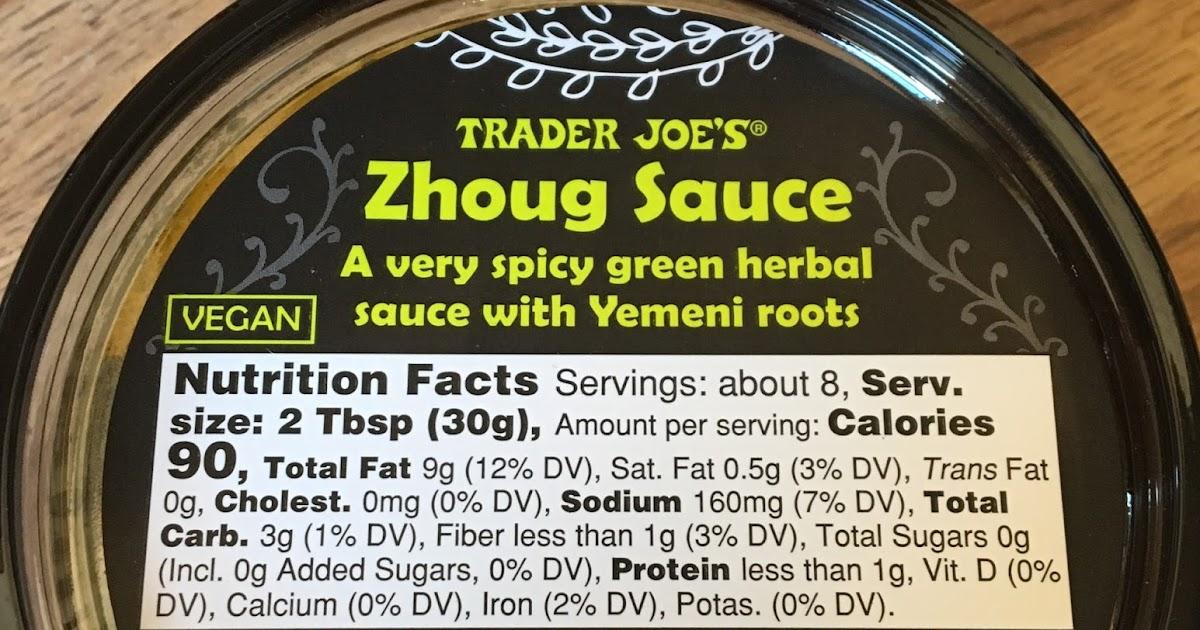 What 39 s good at trader joe 39 s trader joe 39 s zhoug sauce for Trader joe s fish sauce