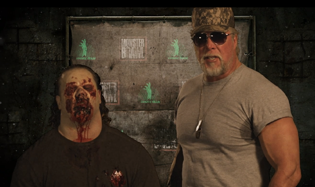 Monster Brawl (2011) Review - Kevin Nash as Captain Crookshank with Zombie Man (Rico Montana)