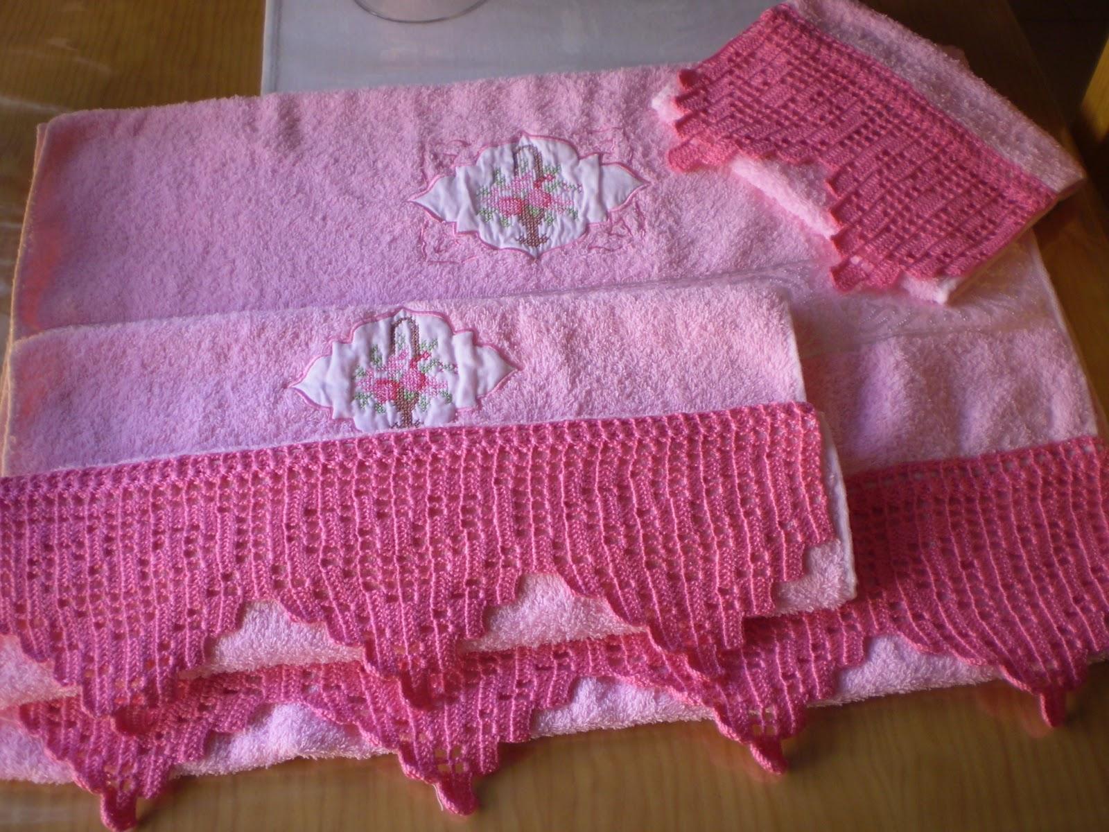 Cosas bonitas que se pueden hacer toallas con cestos de - Hacer puntillas de ganchillo ...