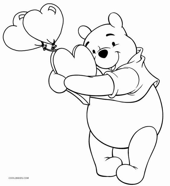 Tranh cho bé tô màu gấu Pooh 13