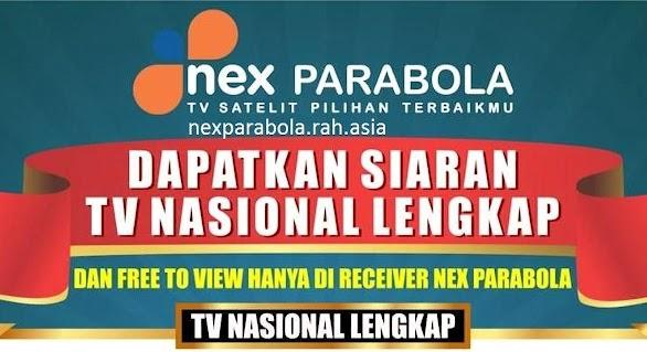 Daftar Siaran TV Nasional di Nex Parabola