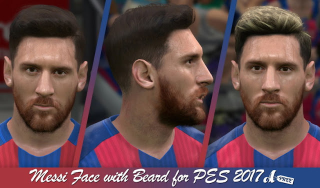 Lionel Messi Face With Beard PES 2017