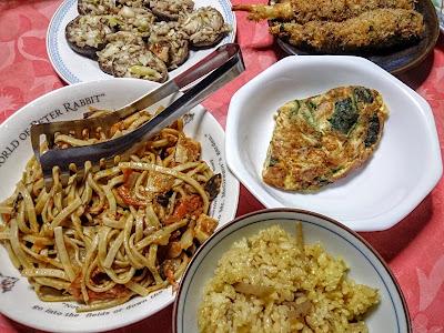 マコモダケと椎茸のフルコース