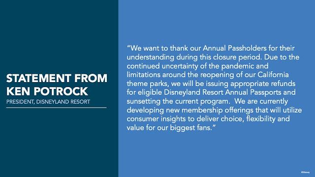 加洲迪士尼樂園度假區 安排更新(2021年1月15日), Arrangement Updates of Disneyland Resort (January 15, 2021)