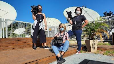 Da esquerda para direita, Pam Hauber, Carol Ambrós e Tiemy Saito. Crédito: Leonardo Venzon.