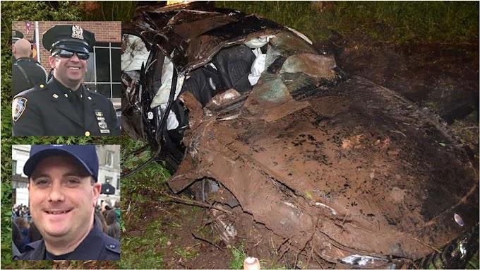 Dos policías mueren en aparatoso accidente cuando uno de ellos celebraba su boda