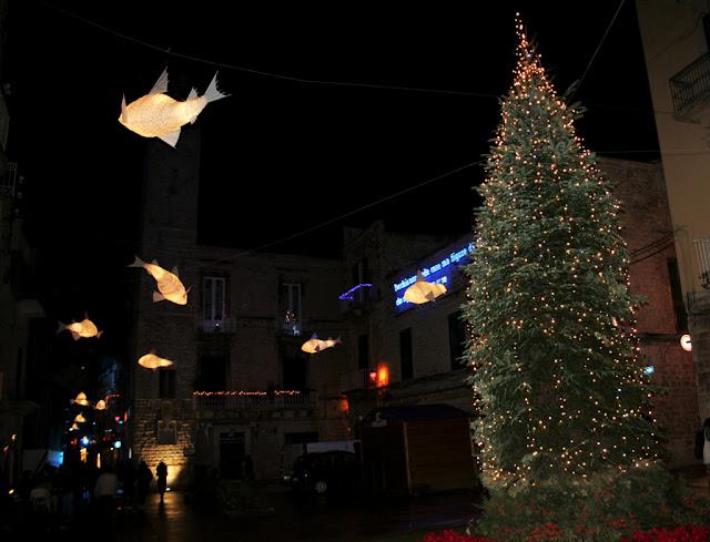 Piazza dell'Orologio, Ruvo di Puglia, luci d'Artista, Natale 2017