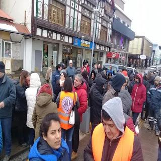 Municipales reclaman aumento salarial en Ushuaia