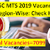 SSC MTS 2019 Vacancy Details Region-Wise: Check Here