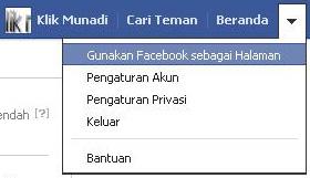 Gunakan Facebook sebagai Halaman